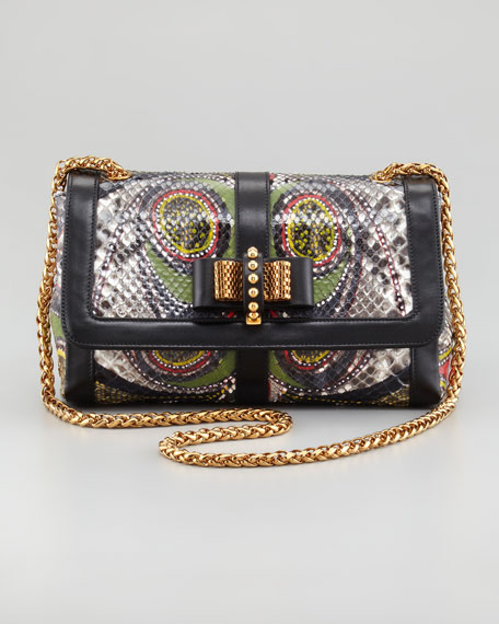 Sweet Charity Paisley Python Shoulder Bag