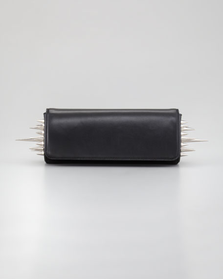 Marquise Spiked Clutch Bag, Black