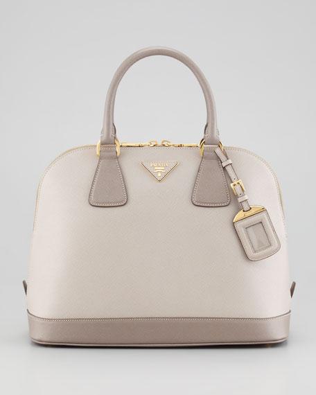 Saffiano Bicolor Dome Bag