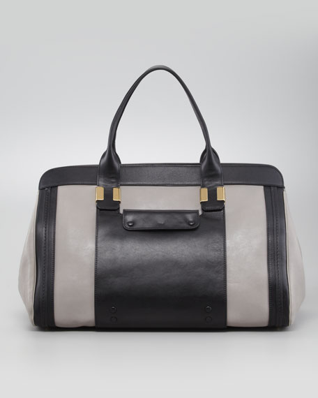 Alice Large Tote Handbag, Cashmere Gray
