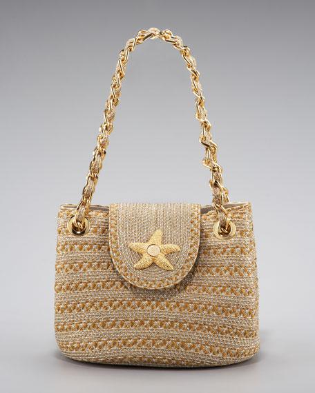 Mini Squishee Star Handbag, Natural/Frost