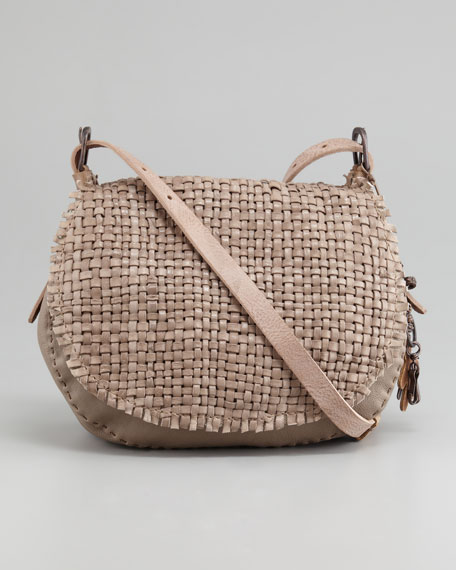 Palude Woven Crossbody Messenger Bag, Taupe