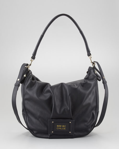Maya Hobo Bag, Black