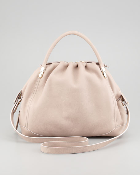 La Ru Satchel Bag, Naturel Fonce