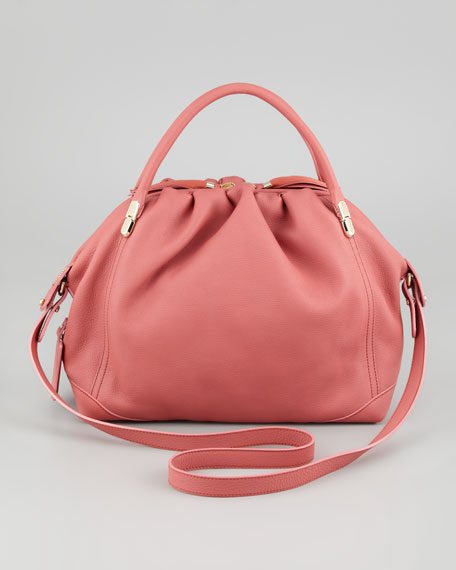 La Ru Satchel Bag, Terracotta