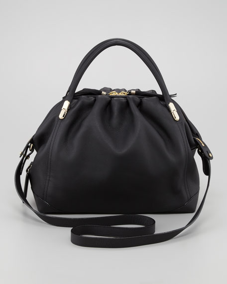 La Ru Satchel Bag, Black