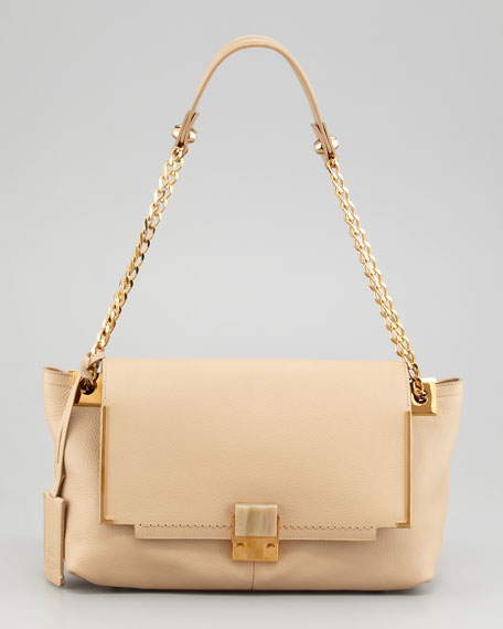 New Partition Large Leather Shoulder Bag