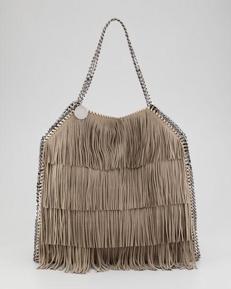 Falabella Fringe Tote Bag, Taupe