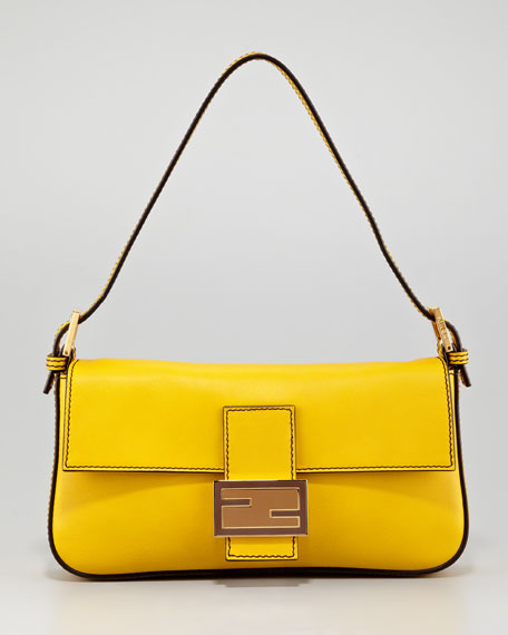 Leather Baguette Bag, Chantilly
