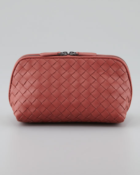 Veneta Medium Cosmetic Bag, Coral