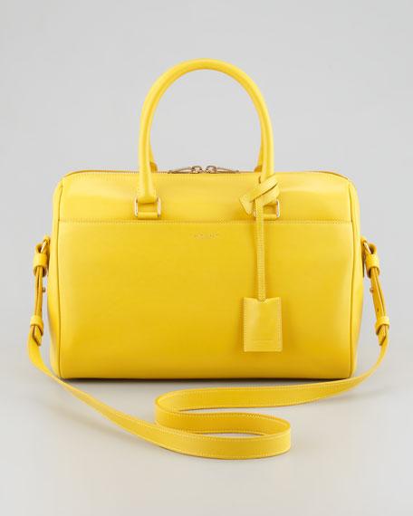 Small Rigid Crossbody Duffel Bag, Yellow