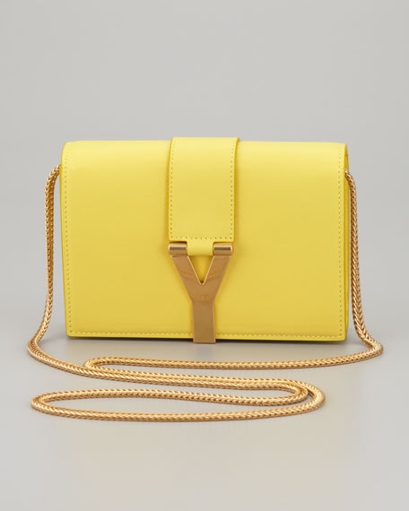 Mini Y Ligne Pochette Crossbody Bag, Yellow
