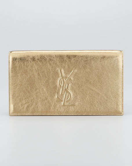Metallic Belle De Jour Clutch Bag, Pale Gold