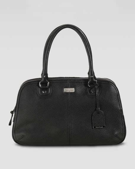 Village Satchel Bag, Black