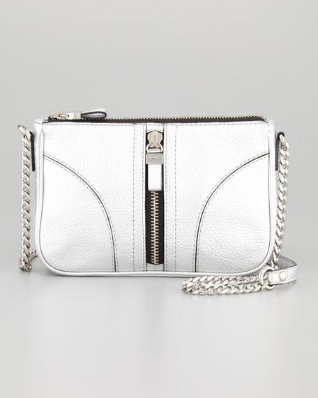 Jayden Mini Shoulder Bag, Silver