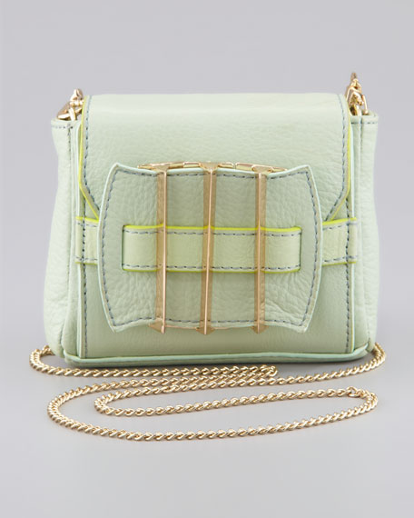 Alina Leather Crossbody Bag, Mint