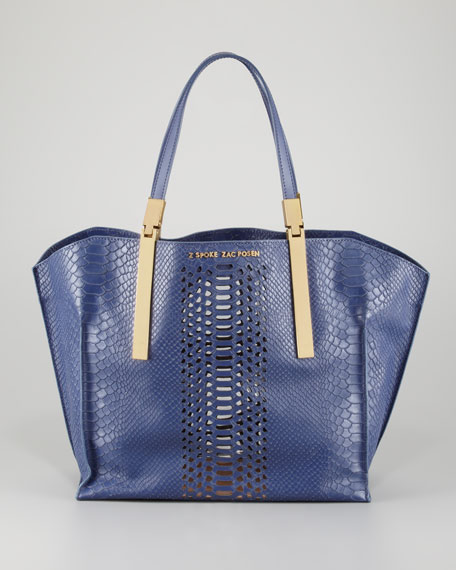Danes Dry Python-Print Small Shopper Bag, Marlin