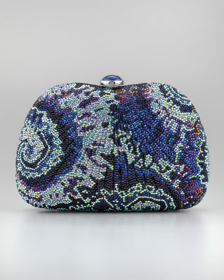 Slim Aquatic Beaded Pouch