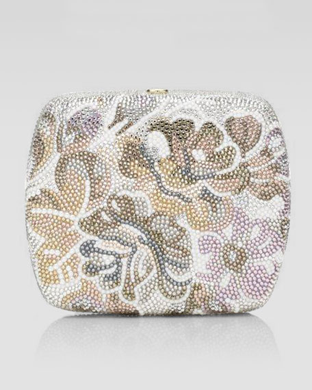 Bouketik Floral Beaded Clutch