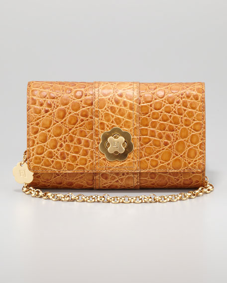 Slater Shoulder Clutch Bag, Camel