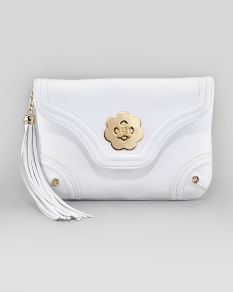 Mini Clutch Bag, White