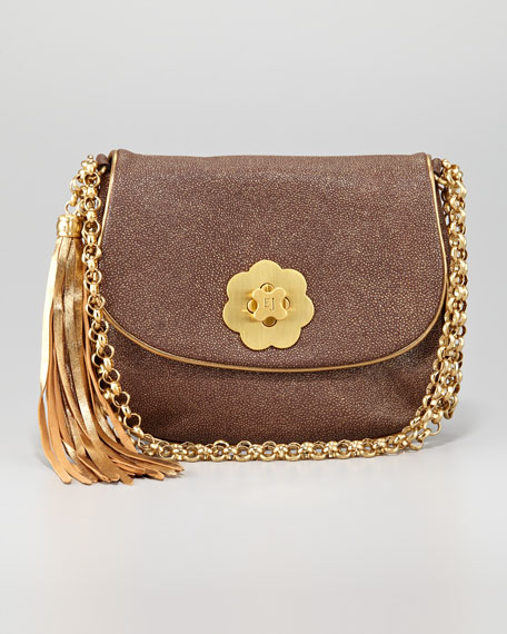Oh Baby Shoulder Bag, Bronze Glitter