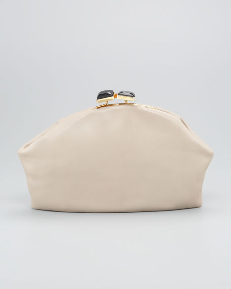 Oversized Leather Clutch Bag