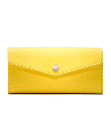 Large Inside-Stripe Saffiano Wallet