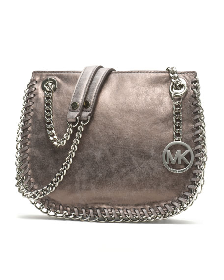 Small Chelsea Metallic Messenger