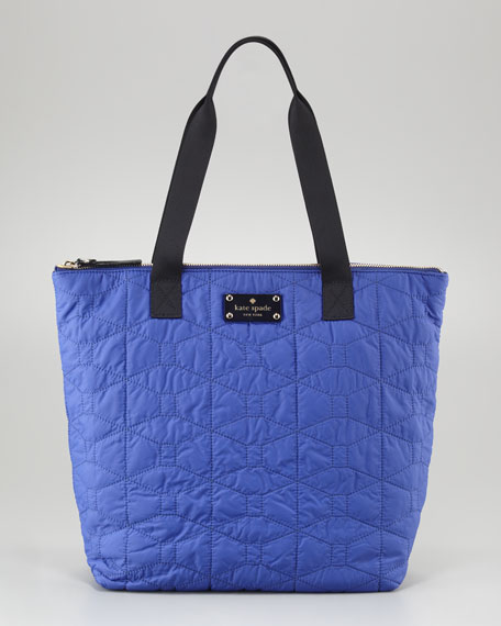 bon shopper quilted nylon tote