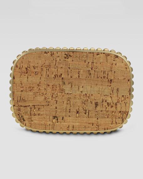 Cassandra Quilted Metallic Cork Clutch Bag