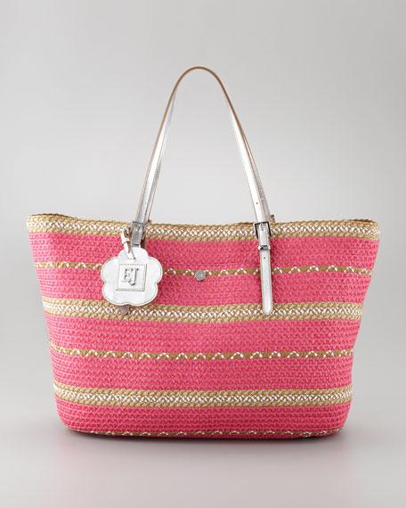 Jav II Square Squishee Tote Bag, Fuchsia