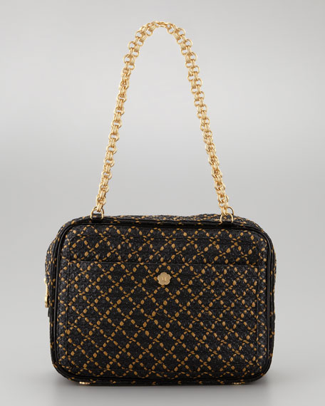 Carla Squishee Shoulder Bag, Black/Multi