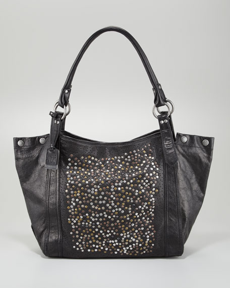 Deborah Studded Tote Bag, Black