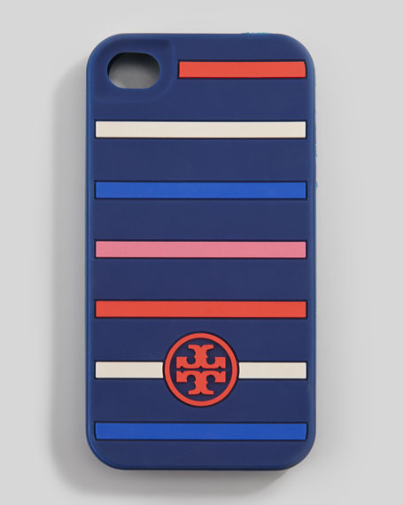 Classic Stripe Silicone iPhone 5 Case, Navy