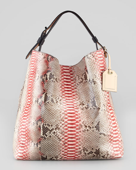 RDK Painted Python Hobo Bag, Multicolor