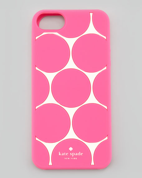 deborah dot iPhone 5 case, cream/pink