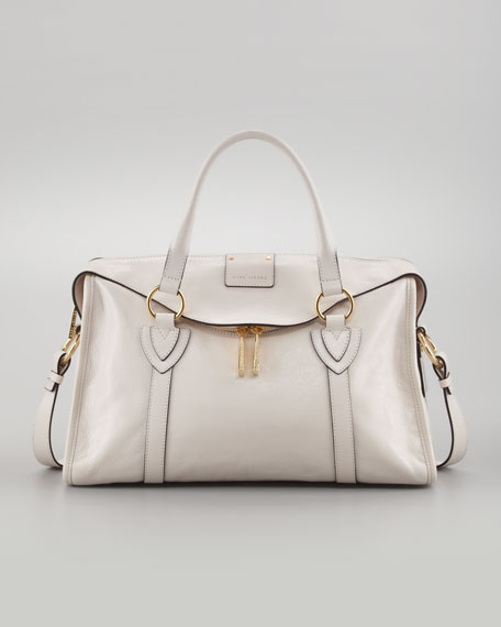 Fulton Large Satchel Bag, Chalk