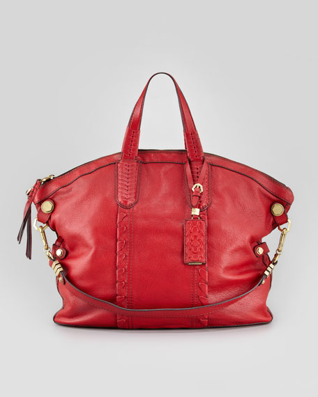 Cassie Convertible Tote Bag, Scarlet Red