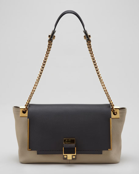 New Partition Shoulder Bag, Dark Gray