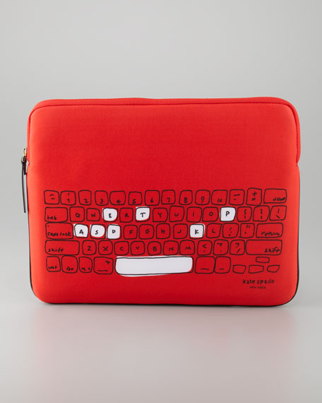 printed neoprene laptop sleeve, 13""