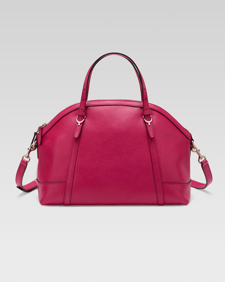 Gucci Nice Dome Satchel Bag, Pink