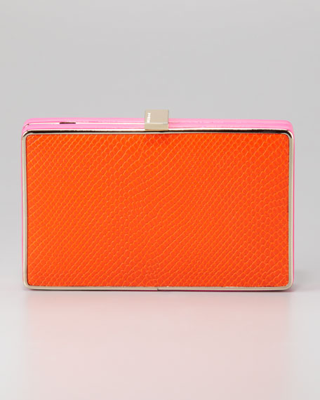 BCBGMAXAZRIA Thea Evening Clutch, Orange/Pink