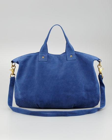 Nubuck Messenger Bag, Azul