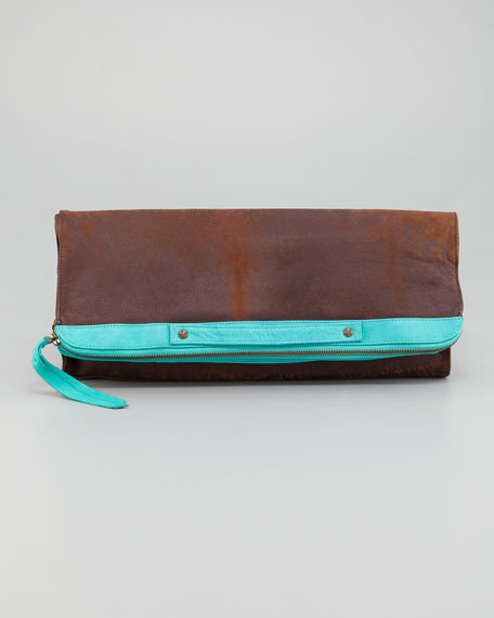 Leather Banker's Clutch Bag
