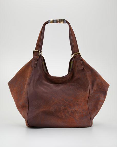 Kenia Leather Hobo, Tobacco