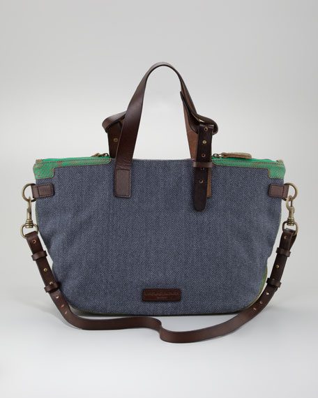 Athena Canvas Tote Bag, Dark Blue