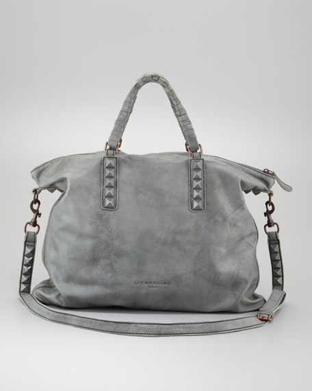 Sandrine Studded Tote Bags, Pistachio