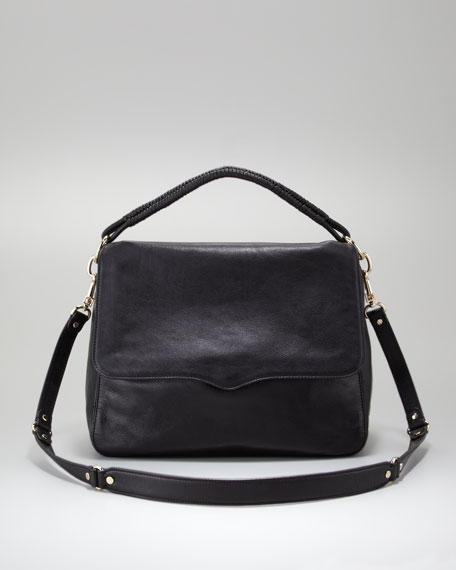 Alden Crossbody Satchel, Black