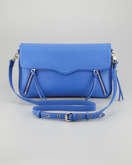 Rebecca Minkoff Markey Leather Envelope Bag, Periwinkle
